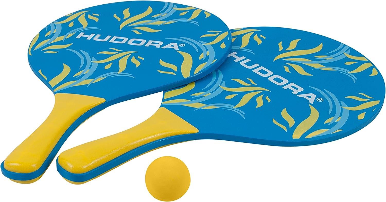 NEU! Holz Strandspiel Set blue Schläger Ballspiel Wurfspiel Beachball /& Garten