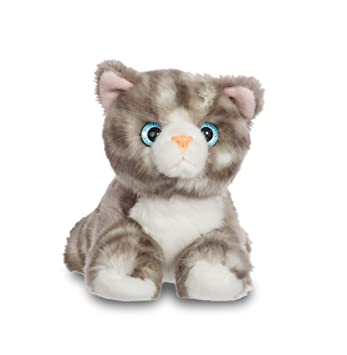 Aurora- Gato de Peluche, colección Luv to Cuddle, Color Gris, 20 cm (0060060709)