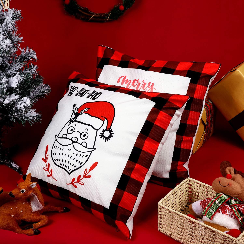 Amazon.com: Boao - 4 fundas de cojín de Navidad, diseño de ...