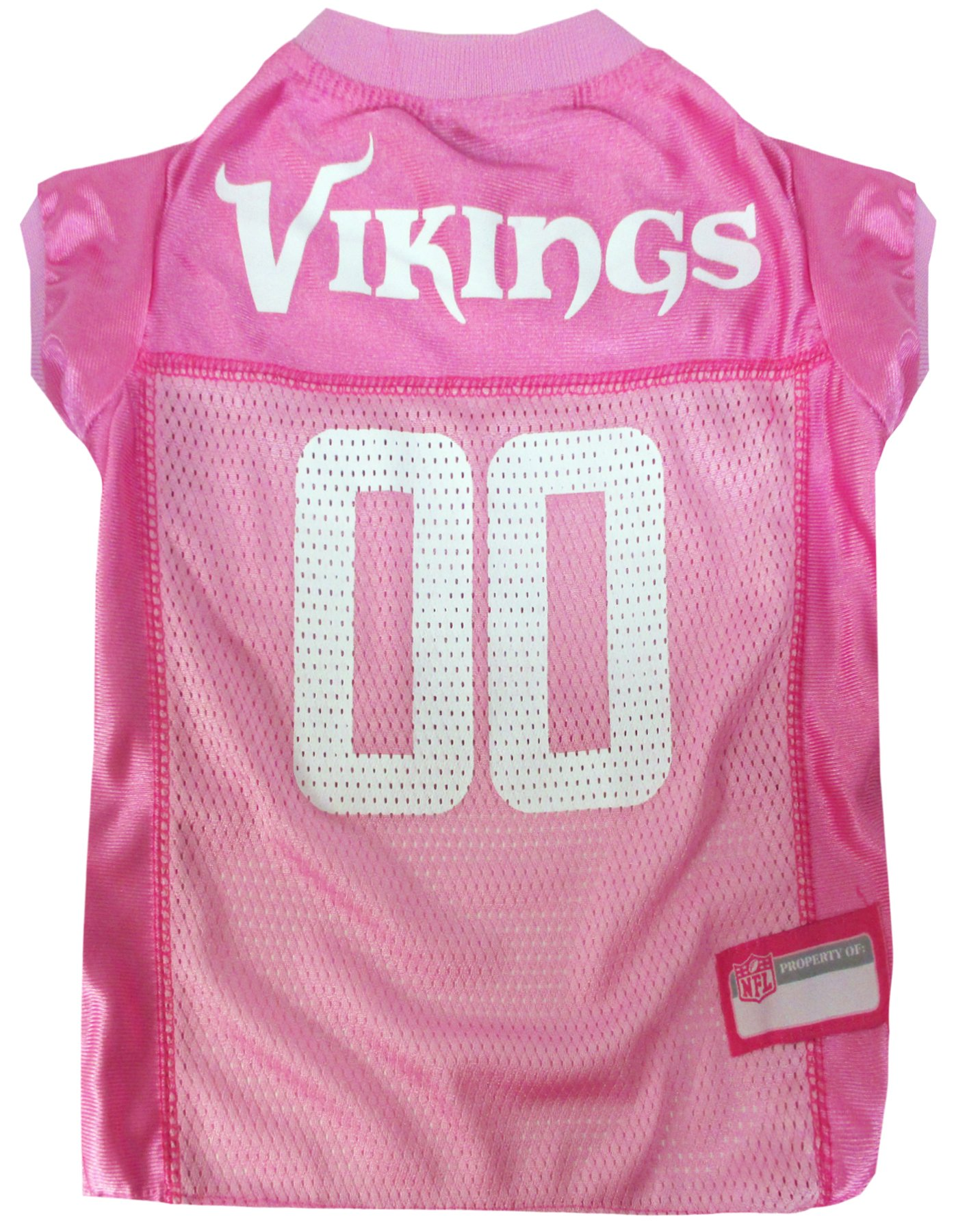 Pets First NFL MINNESOTA VIKINGS DOG Jersey Pink, Small. - Football Pet Jersey in PINK
