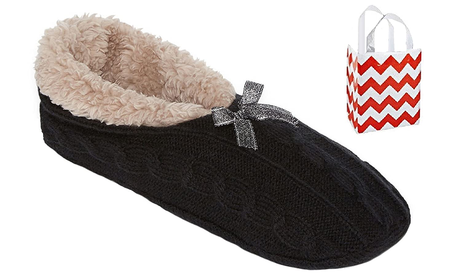 d63d24bcdd344 Mixit Womens Slipper Socks-Booties 1 Pair   Bag Multi-Pack Gift Set at Amazon  Women s Clothing store