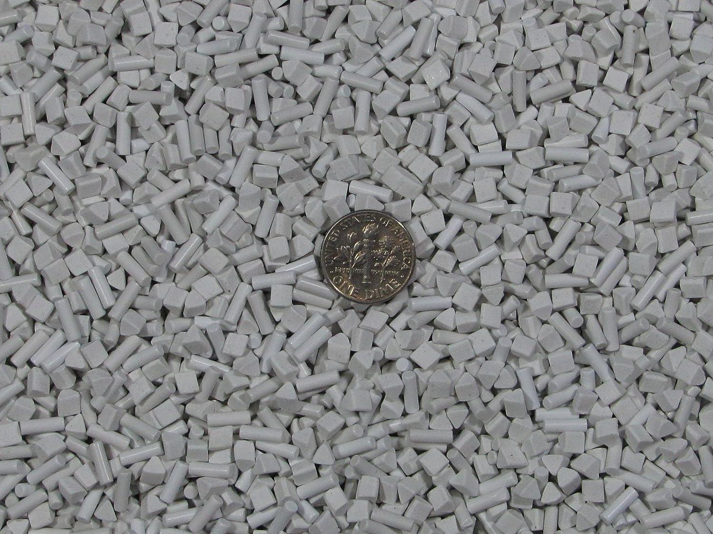 3mm Spheres 2.5 X 8 mm Pins Mixed Polish Non-Abrasive Ceramic Tumbling Tumbler Tumble Media 3 Lb 4 mm Triangles