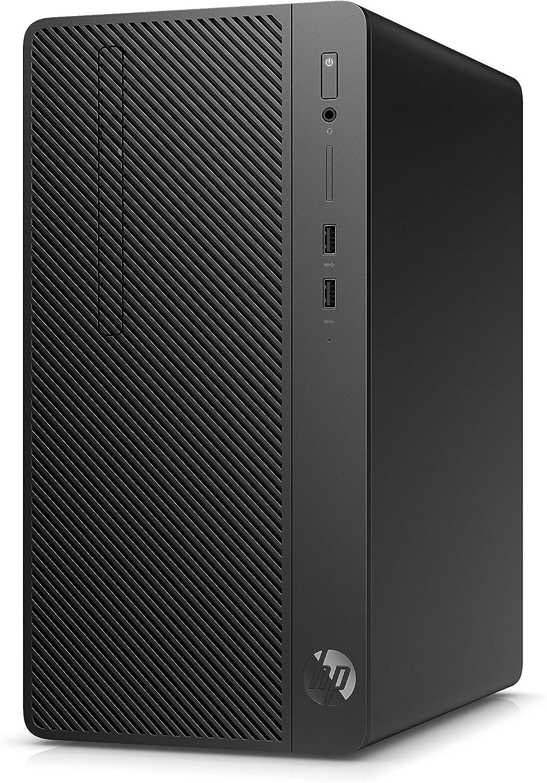 HP 285 G3 - Ordenador de sobremesa profesional (AMD Ryzen 3-2200G, 8GB RAM, 256GB SSD, AMD Radeon Vega 8, Windows 10 Pro) Negro - Teclado QWERTY Español y ratón