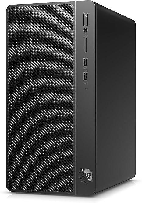 TALLA 256GB SDD. HP 285 G3 - Ordenador de sobremesa profesional (AMD Ryzen 3-2200G, 8GB RAM, 256GB SSD, AMD Radeon Vega 8, Windows 10 Pro) Negro - Teclado QWERTY Español y ratón