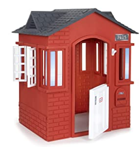 Little Tikes Cape Cottage House, Red with Working Doors, Working Window Shutters, Flag Holder   Easy Installation Process, Simple Snap and Click Assembly   for Kids 2-6 Years Old