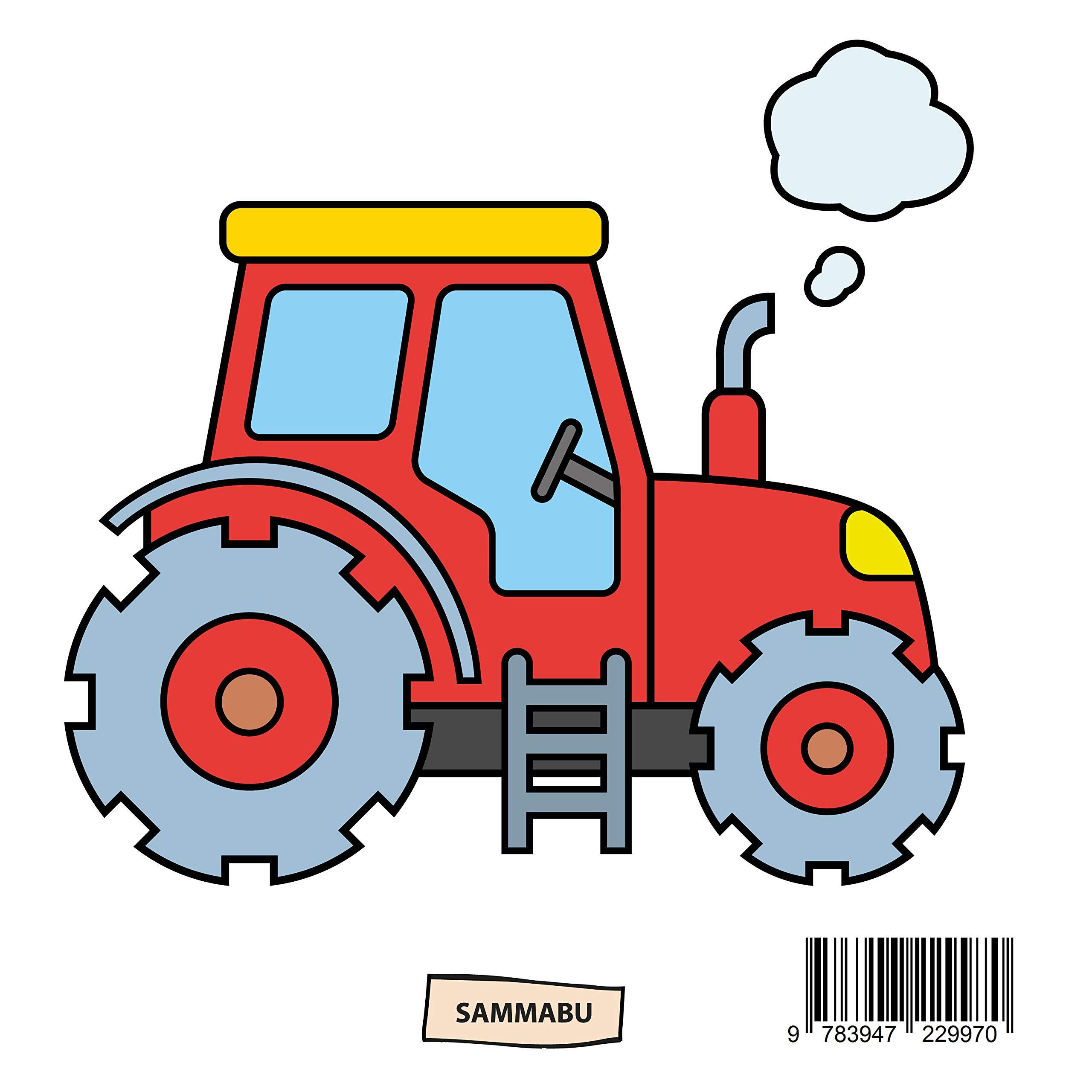 Traktor Malbuch Ab 2 Jahren Fahrzeuge Auf Dem Bauernhof Zum Ausmalen Kritzeln Und Entdecken Amazon De Sammabu Edition Bucher