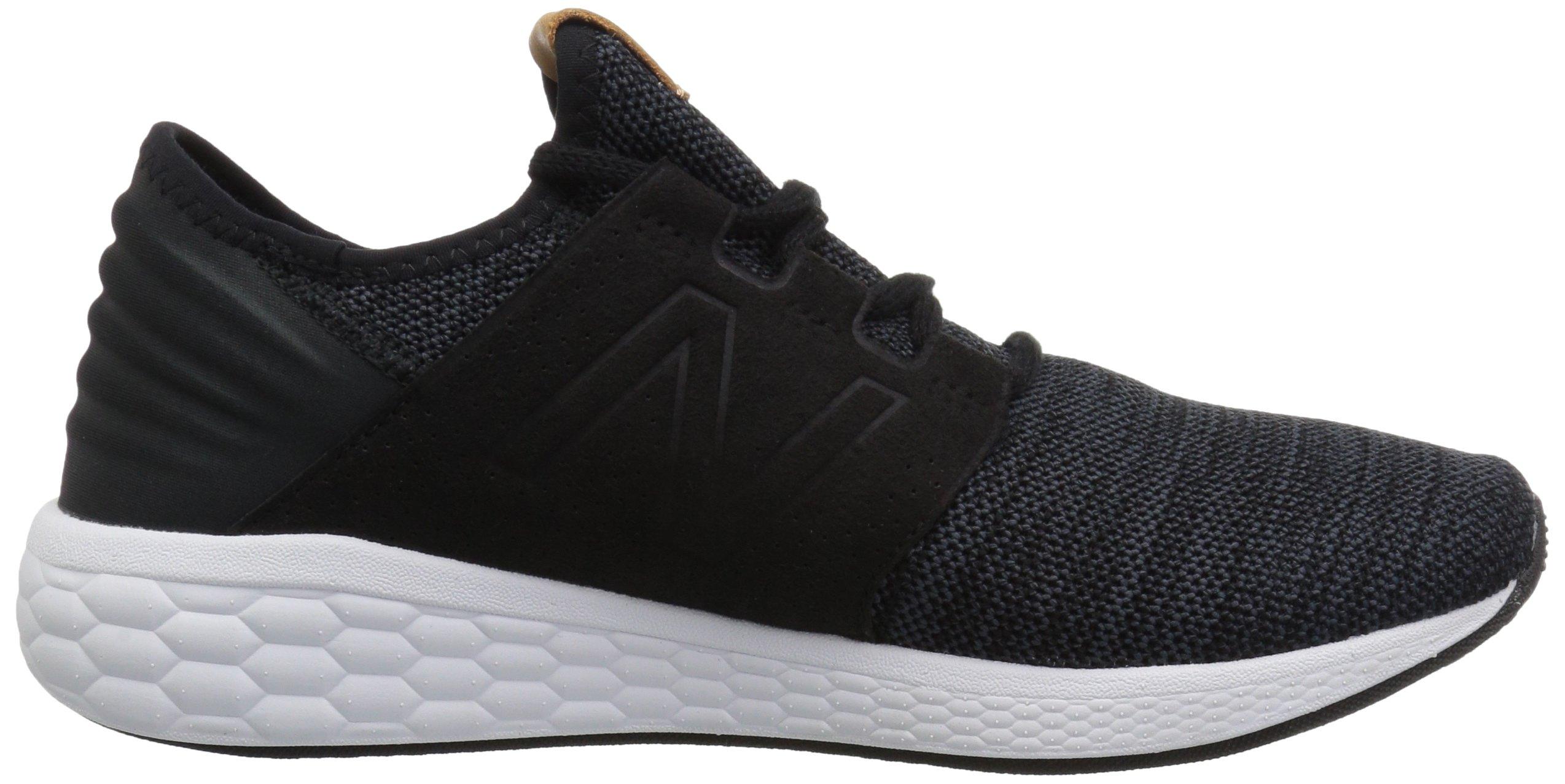 New Balance Men's Cruz V2 Fresh Foam Running Shoe, black/white, 7 D US by New Balance (Image #6)