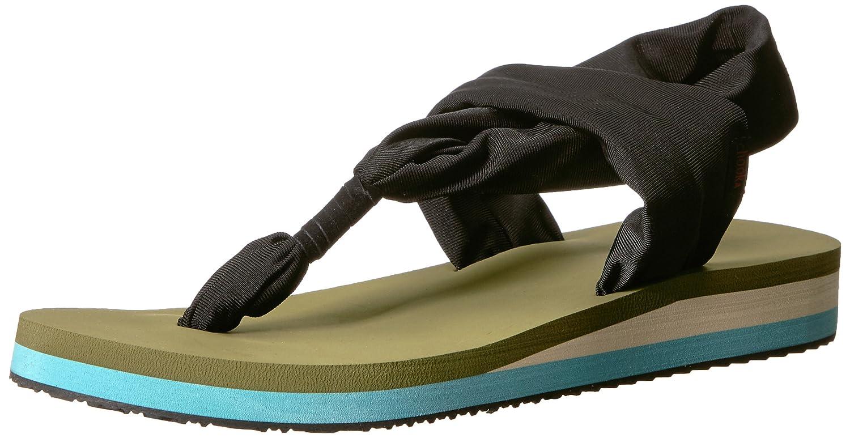 Chooka Women's Yoga Mat Footbed Sling Sport Sandal Flip-Flop B074P438PC 10 M US|Olive