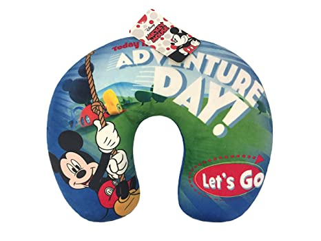 Jay Franco Disney Mickey Mouse Stars Plush Kids Travel Neck Pillow