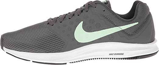 NIKE Womens Downshifter 7, Anthracite/Fresh Mint-Dark Grey-White, 10.5 B(M) US: Amazon.es: Zapatos y complementos