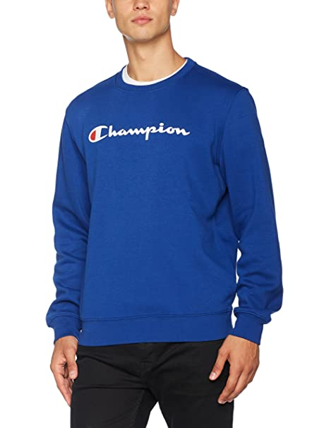 Crewneck Sweatshirt-Institutionals, Sudadera para Hombre, Azul (Znny), XX-Large Champion