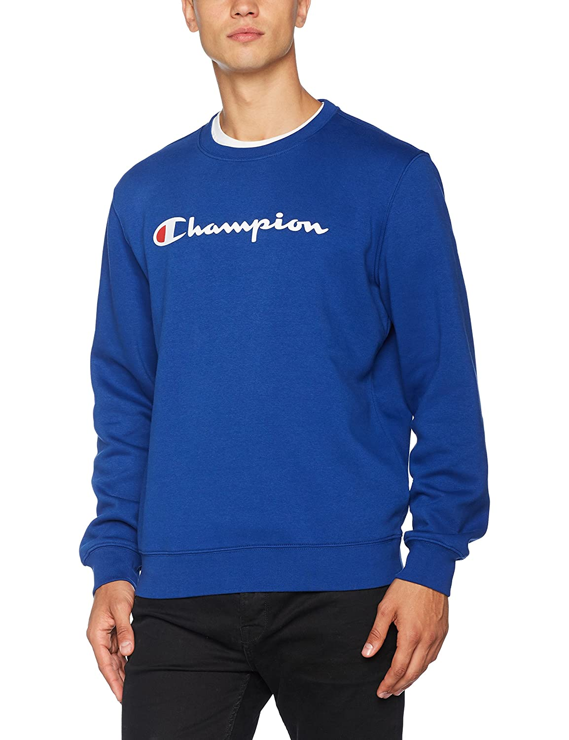 Champion Crewneck Sweatshirt-Institutionals, Felpa Uomo 210740_F17
