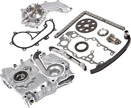 Evergreen TCK2020OP Fits 94-04 Toyota 2.7 DOHC 16V 3RZFE Timing Chain Kit w//Timing Cover Oil Pump
