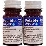 Potable Aqua Water Purification Iodine Tablets 2 Bottles with 50 Each (Twin Pack)