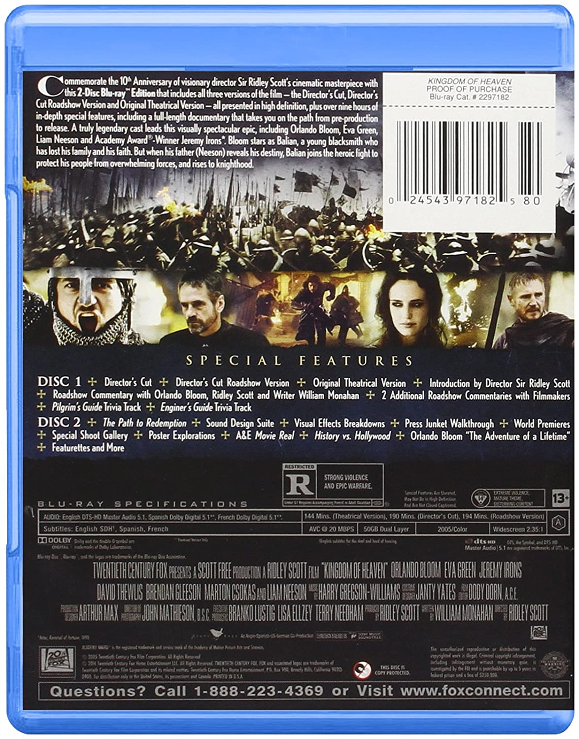 Amazon Kingdom Of Heaven Ultimate Edition Orlando Bloom Eva Green Jeremy Irons David Thewlis Brendan Gleeson Khaled El Nabaoui Peter Cant