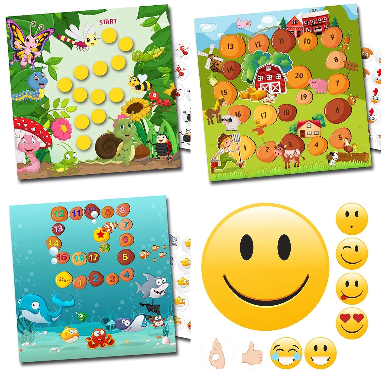 By Diana Belohnung für Kinder mit lustigen Sets fröhliche Insekten, Bauernhof, Aquarium+ Emoji Sehr Gut