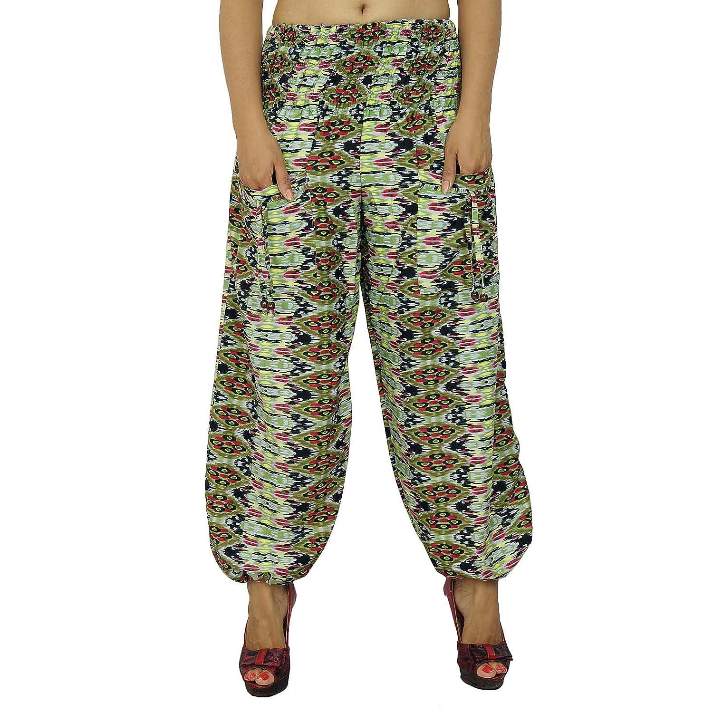 Harem Hose abstrakten Gypsy mehrfarbige Hose elastische Hosen Strand Pyjamas