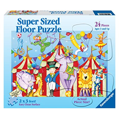 Ravensburger Day at The Circus - 24 Pieces Super Sized Floor Puzzle: Toys & Games [5Bkhe1104527]