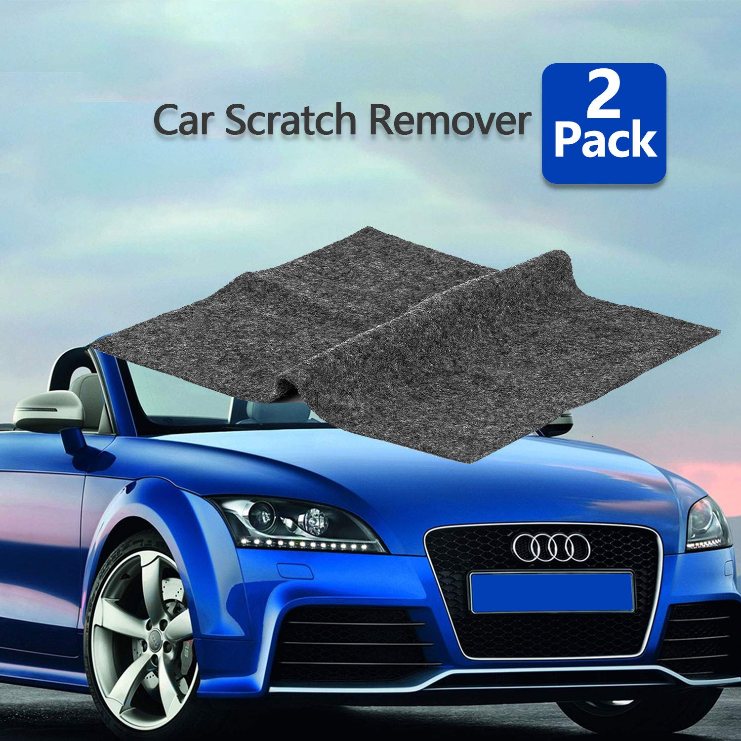 [2pack] Multipurpose Scratch Removal for Cars ,Car Paint Scratch Repair Cloth,Car Scuff and Scratch Remover Nano-Tech Magic Scratch Remover Fix Car Scuffs Polishing Kit for Multicolor Car Surface