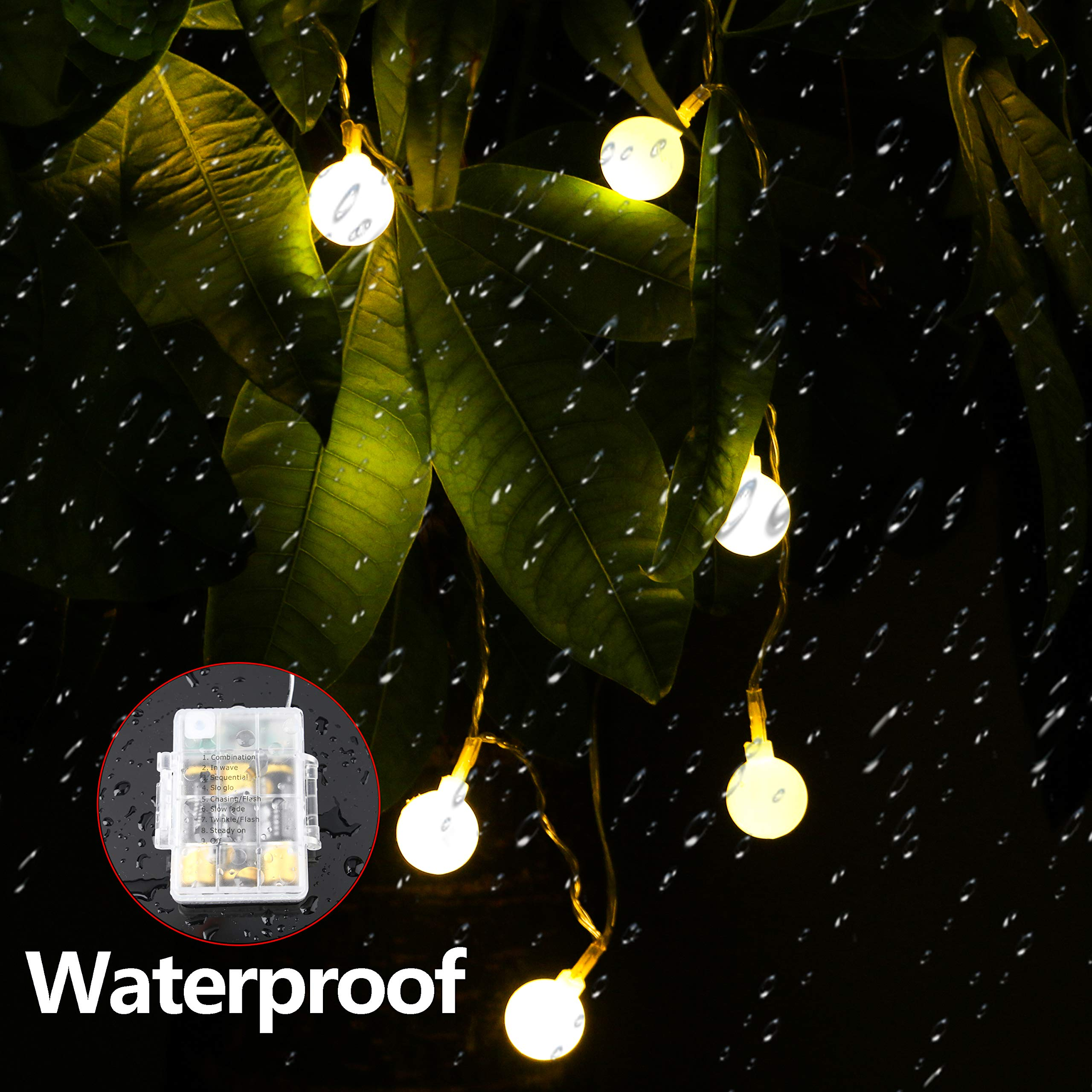 Battery Fairy Lights - Outdoor Fairy Lights [Remote & Timer] 16.4FT/5M 50Leds 8 Modes Waterproof Battery Powered Fairy Lights for Decorations Christmas