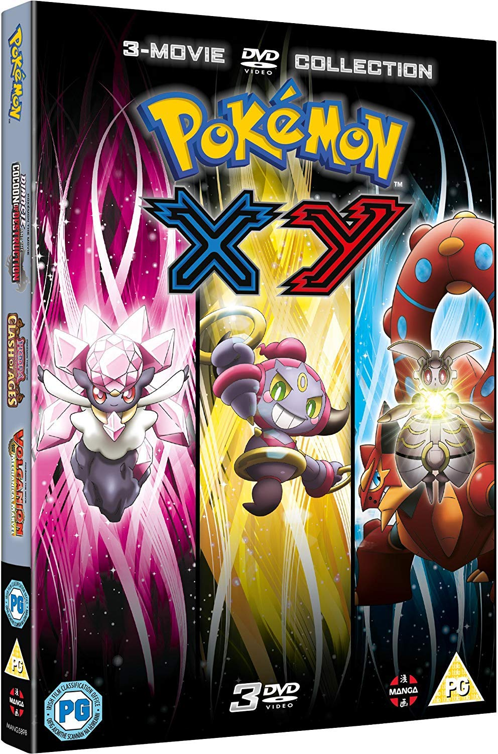 Amazon Com Pokemon Movie 17 19 Collection Xy Diancie And The Cocoon Of Destruction Hoopa And The Clash Of Ages Volcanion And The Mechanical Marvel Dvd Movies Tv