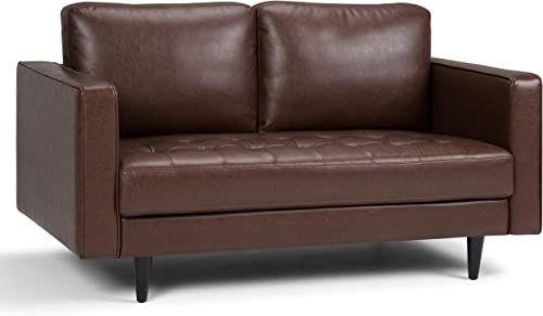 Simpli Home Blaine Mid Century Modern 62 inch Wide Sofa Loveseat
