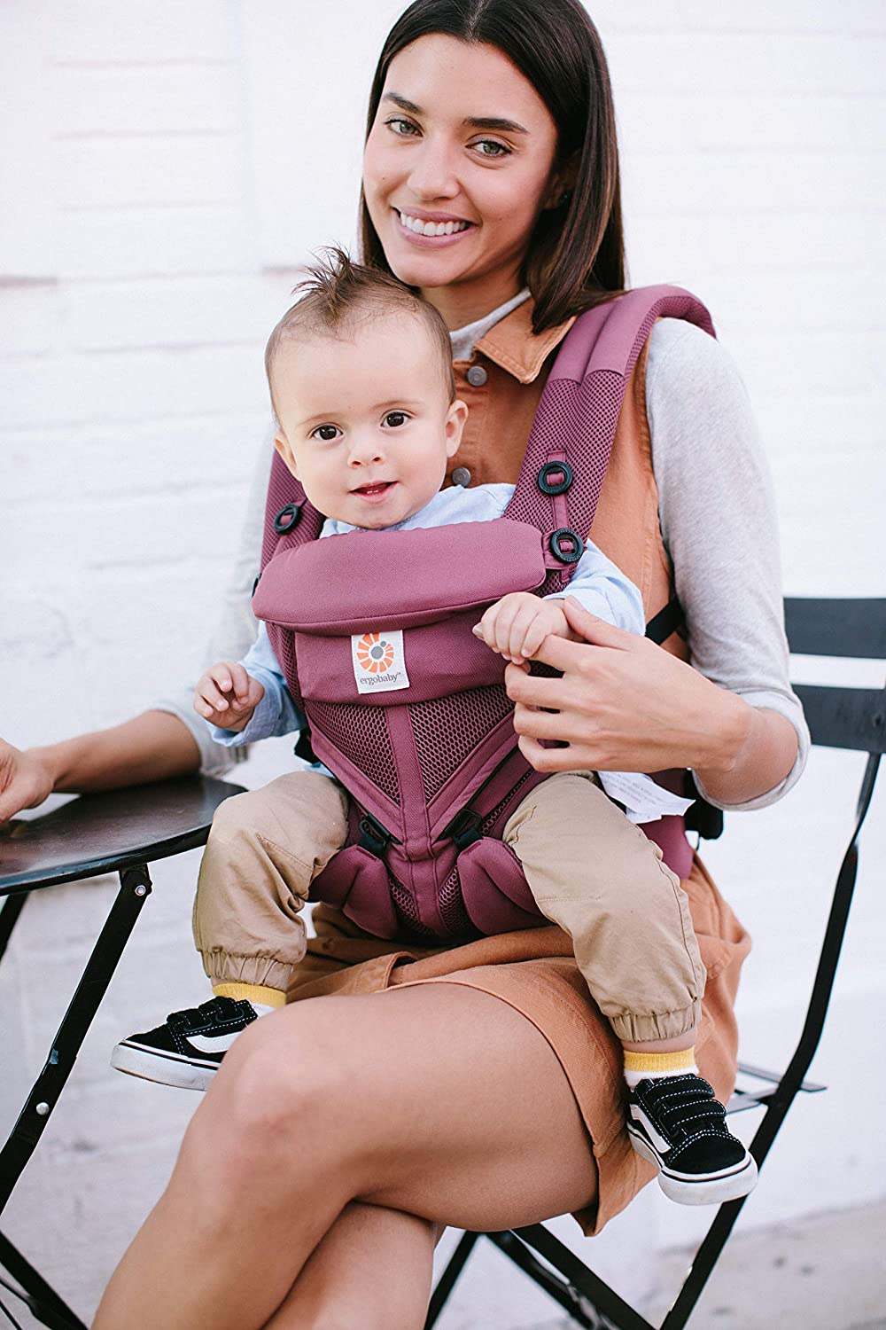 4-Position Omni 360 Cool Air Mesh Ergonomic Child Carrier Backpack Ergobaby Baby Carrier for Newborn to Toddler Plum