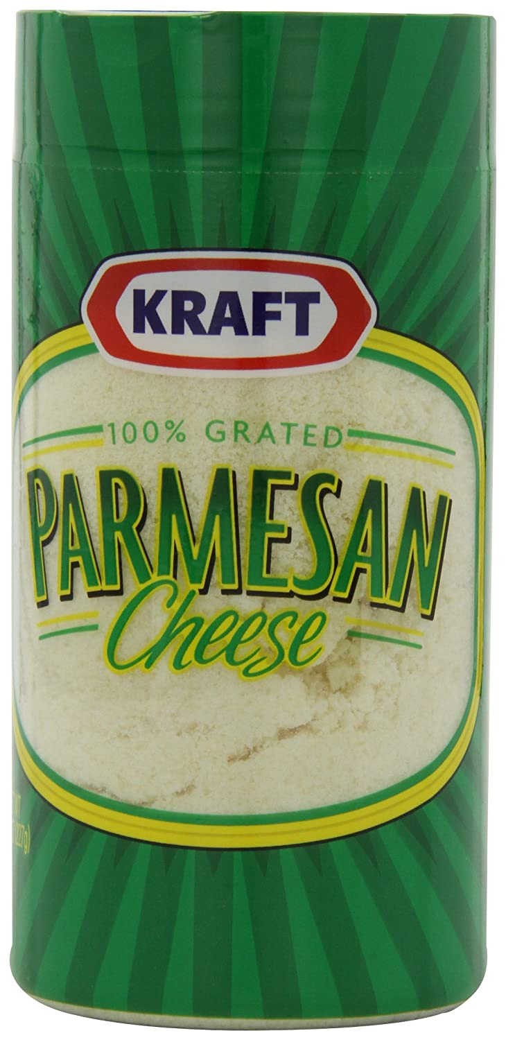 Kraft Grated Parmesan, 8 Ounce Cannister (Pack of 12)