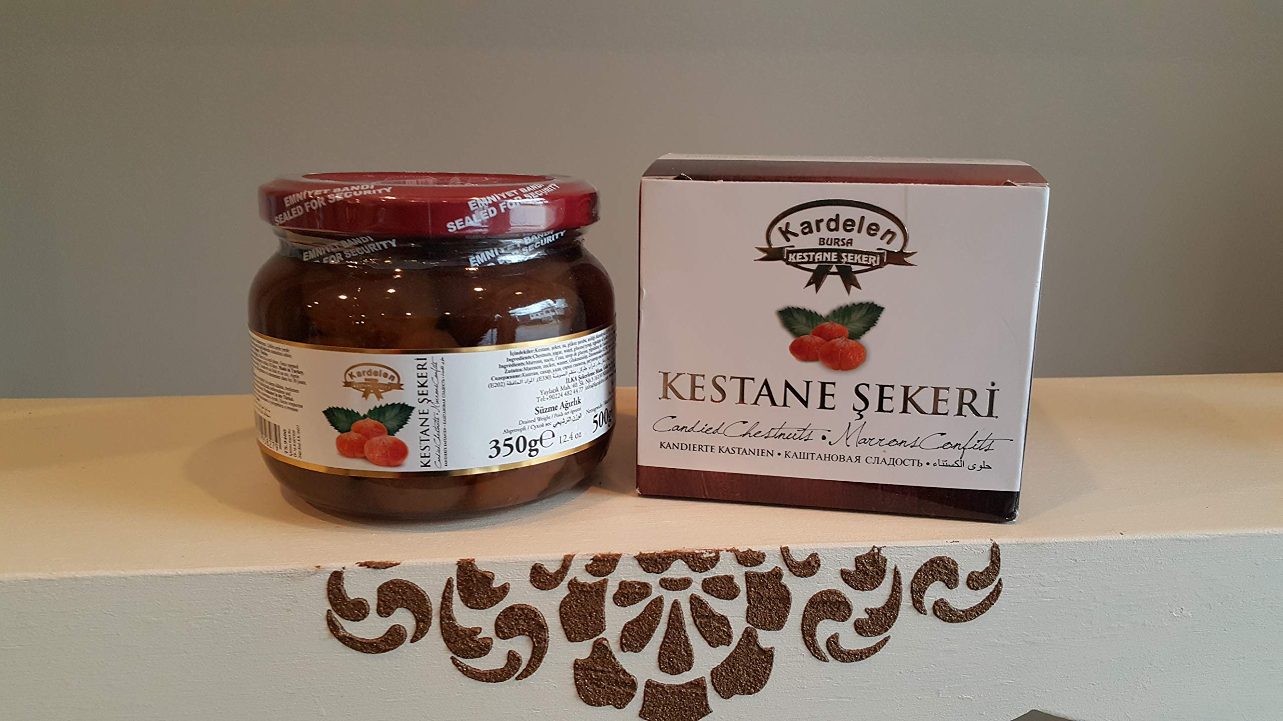 Kardelen Jarred Candied Chestnuts in Syrup 500gr (17.64oz) by Kardelen