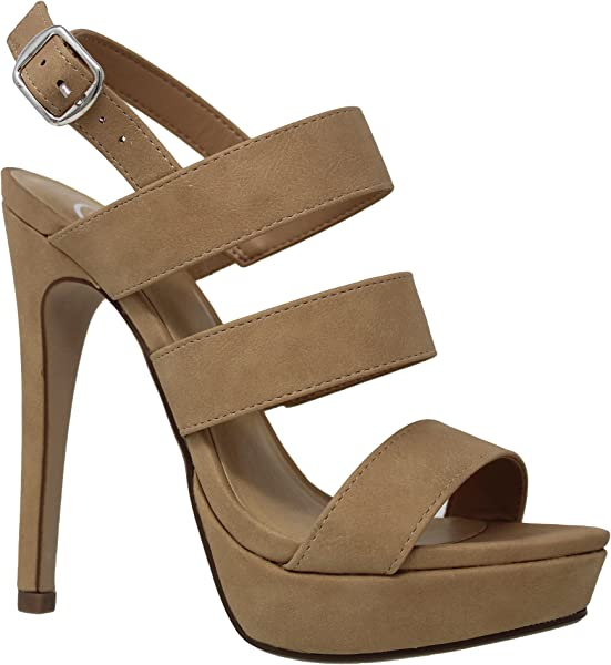 e60fb7d710 Amazon.com | MVE Shoes Women's Strappy Peep Toe Platform - High Heel  Stiletto Pumps - Slingback Cute Sandals, NAT nbpu Size 6.5 | Pumps