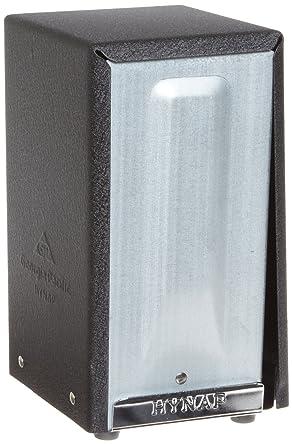 hynap 500 – 02 – Acero Negro Alto Fold Cara Abierta Dispensador de servilletas, 3.2222