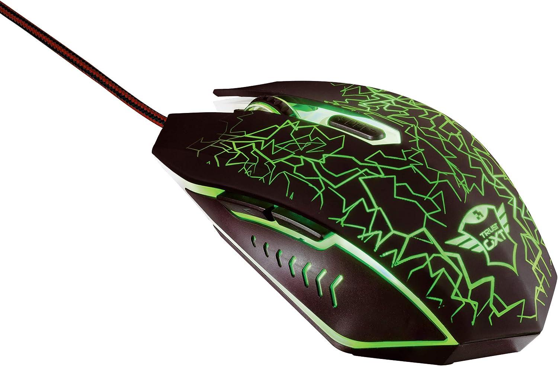Trust GXT 105 Gaming Maus 2400 DPI, 6 Tasten, LED Beleuchtung