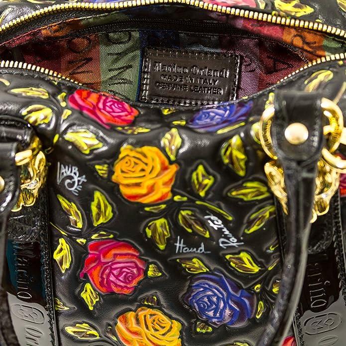 Marino Orlandi Italian Designer Handpainted Red Roses Leather Boxy Purse  Handbag  Amazon.co.uk  Shoes   Bags 6b839dad22fb6