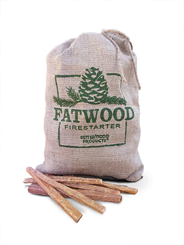 Better Wood Products Fatwood Firestarter Burlap Bag 10 Pounds