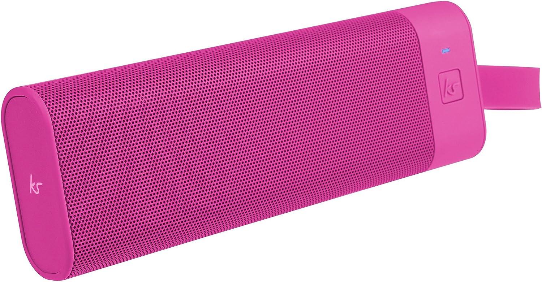 Kitsound Boombar Tragbarer Wireless Bluetooth Lautsprecher Soundsystem Mit 3 5 Audioeingang Universal Kompatibel Mit Apple Und Android Smartphones Tablets Und Mp3 Playern Pink Audio Hifi