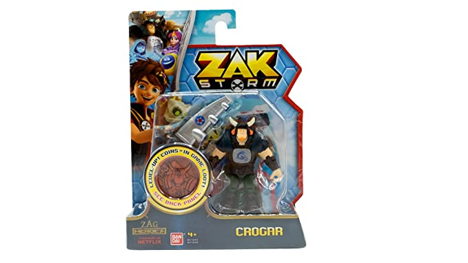 Amazon.com: Zak Storm Crogar 3-inch Scale Action Figure with Blind Bag: Toys & Games