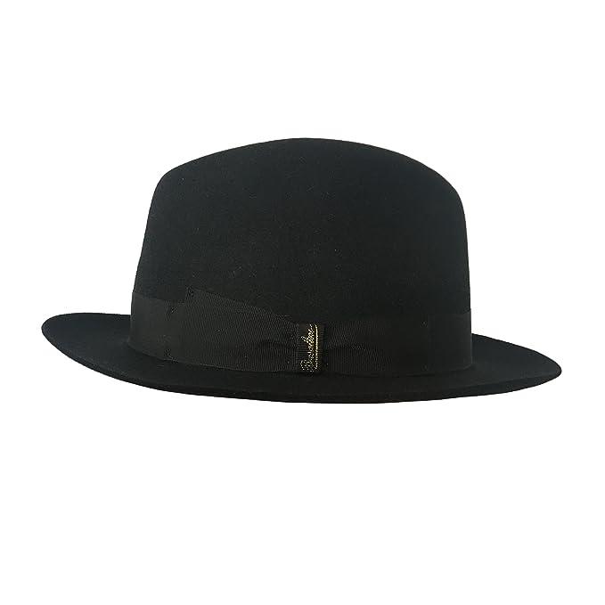 BORSALINO cappello donna nero con nastro nero tesa piccola mod 370365 100%  feltro MADE IN ITALY (M)  Amazon.it  Abbigliamento f850456564b6