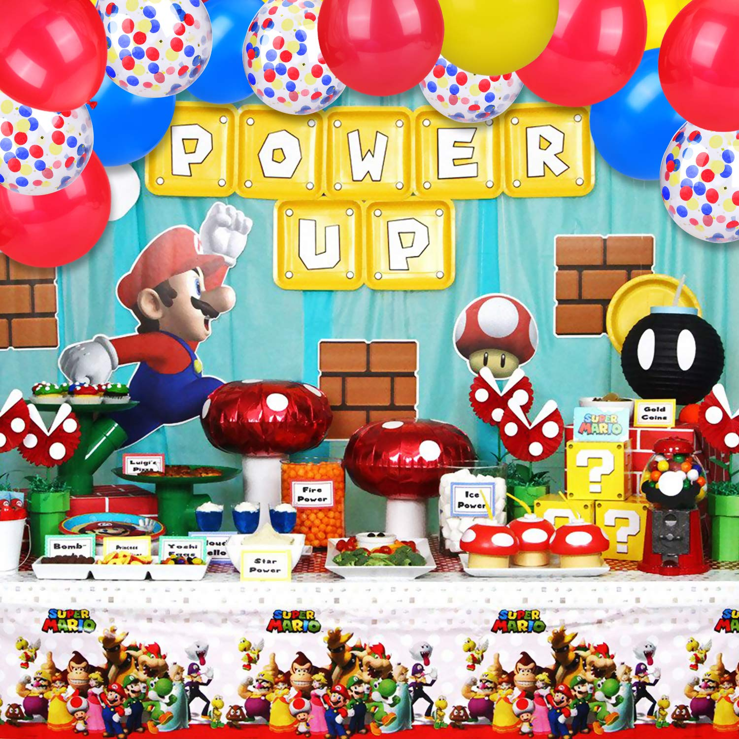 Amazon.com: Globos de color de MOAOO Mario, 40 unidades, 12 ...