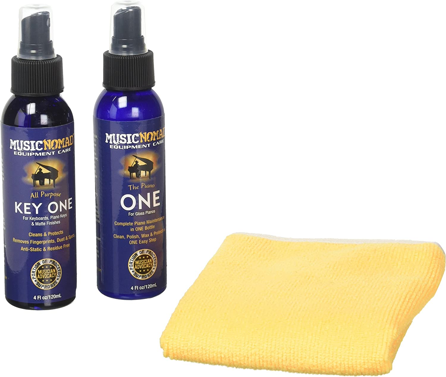Music Nomad MN132 Complete Piano Cleaning and Polishing Care Kit for Gloss Pianos