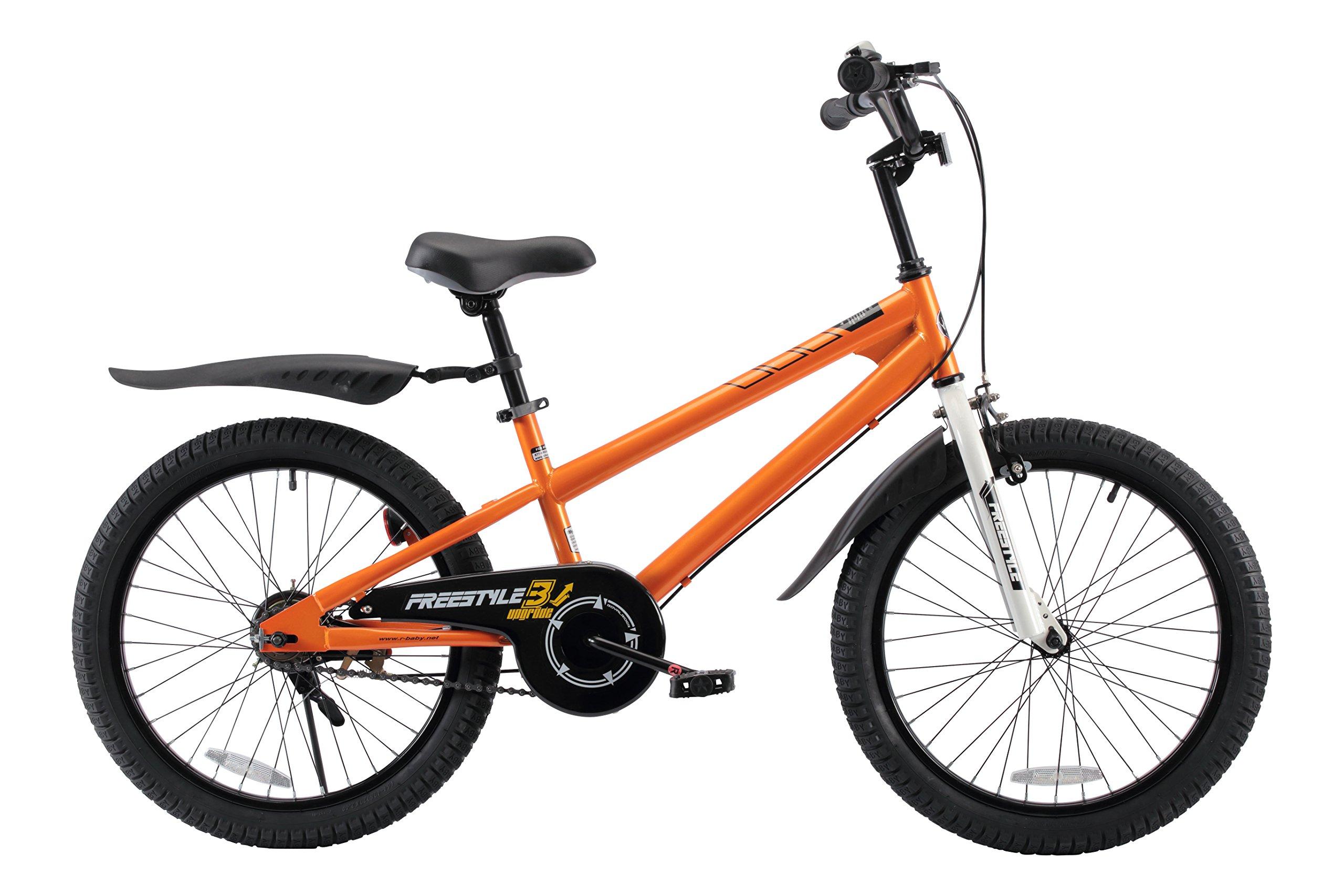 RoyalBaby BMX Freestyle Kids Bike, Boy's Bikes and Girl's Bikes, Gifts for children, 20 inch wheels, Orange