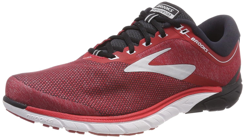 Brooks PureCadence 7, Zapatillas de Running para Hombre 44.5 EU|Rojo (Red/Black/Silver 673)