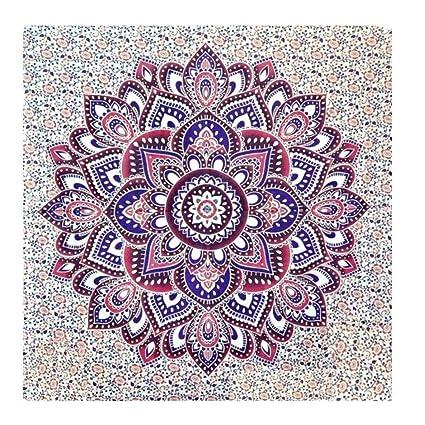 ELECTROPRIME Buddhist Lotus Mandala Tapestry Wall Hanging Boho Bedspread Throw Dorm M