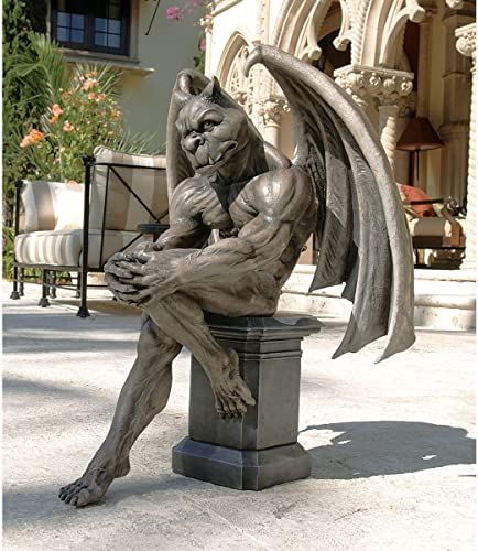 Design Toscano DB383050 Socrates The Gargoyle Thinker Outdoor Garden Statue