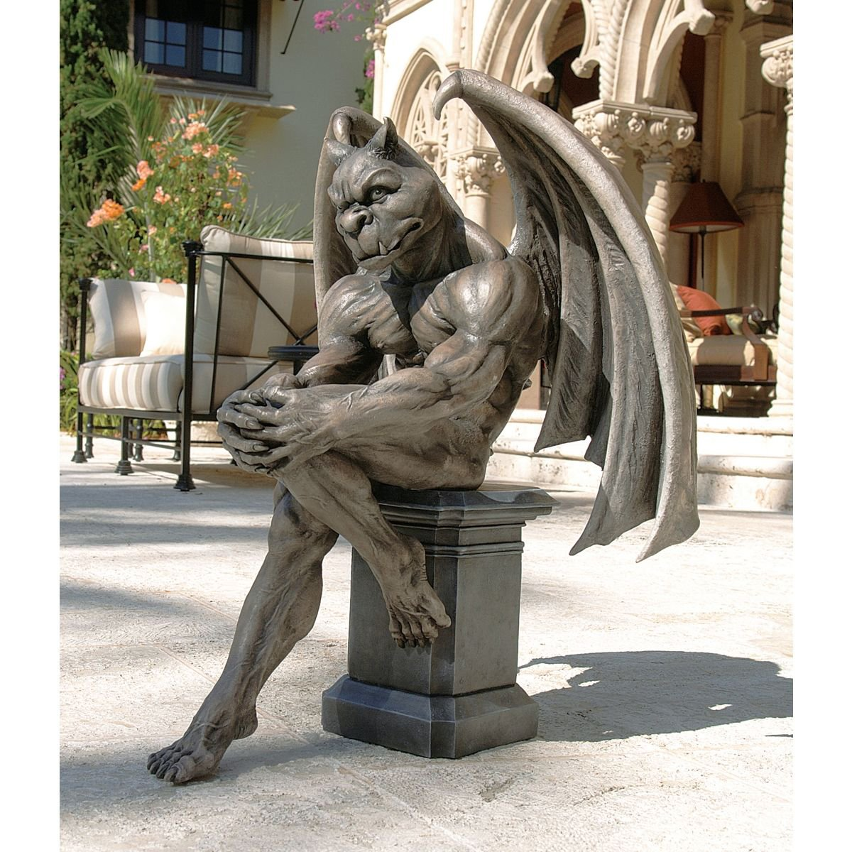 Amazon.com : Design Toscano Socrates, The Gargoyle Thinker Sculpture : Outdoor  Statues : Garden U0026 Outdoor