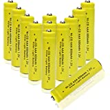 GEILIENERGY 1.2v AAA NiCd 600mAh Triple A Rechargeable Battery for Solar light Lamp Yellow Color ( Pack of 12pcs AAA NI-CD Batteries)