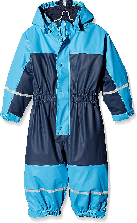 Playshoes Baby Kinder wasserdichter Regen-Overall Regenanzug mit Fleece-Futter