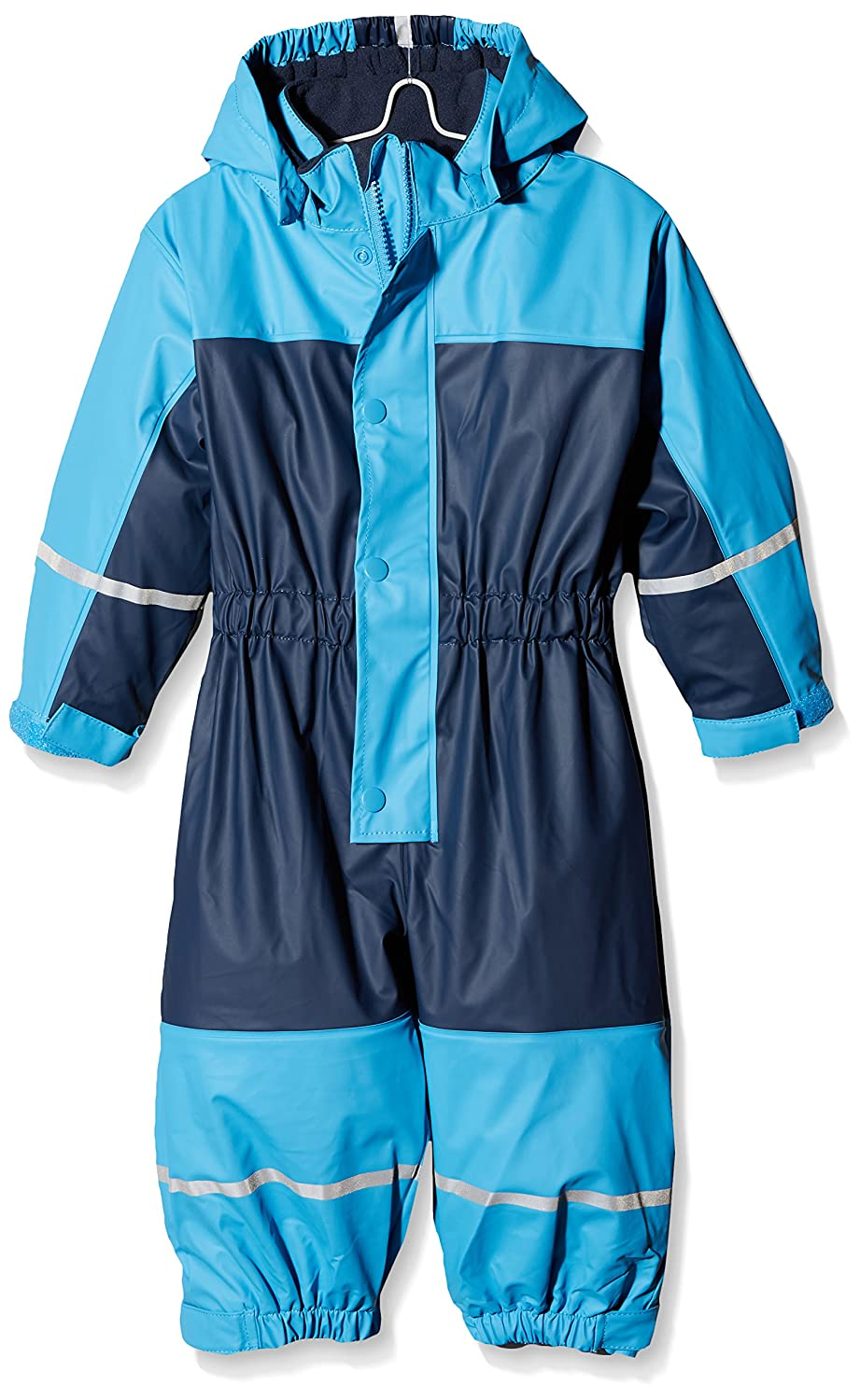 Playshoes Boy's Waterproof Fleece All-in-One Rainsuit with Reflectors 405401