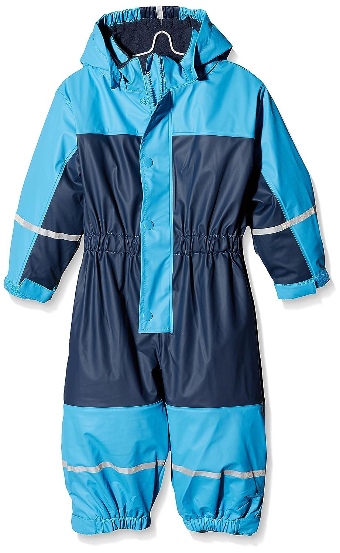 Playshoes Baby-Jungen Regenjacke Wasserdichter Regen-Overall, Regenanzug mit Fleece-Futter, Reflektoren 405401