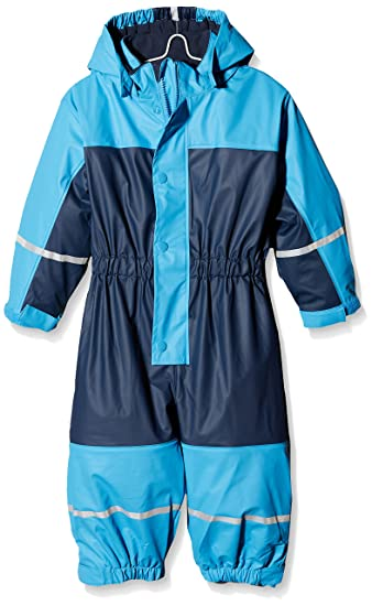 Playshoes Baby-Jungen Regenanzug Regen-Set Basic Regenjacke