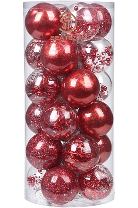 Amazon sea team 70mm276 shatterproof clear plastic christmas sea team 70mm276quot shatterproof clear plastic christmas ball ornaments decorative xmas balls baubles solutioingenieria Choice Image